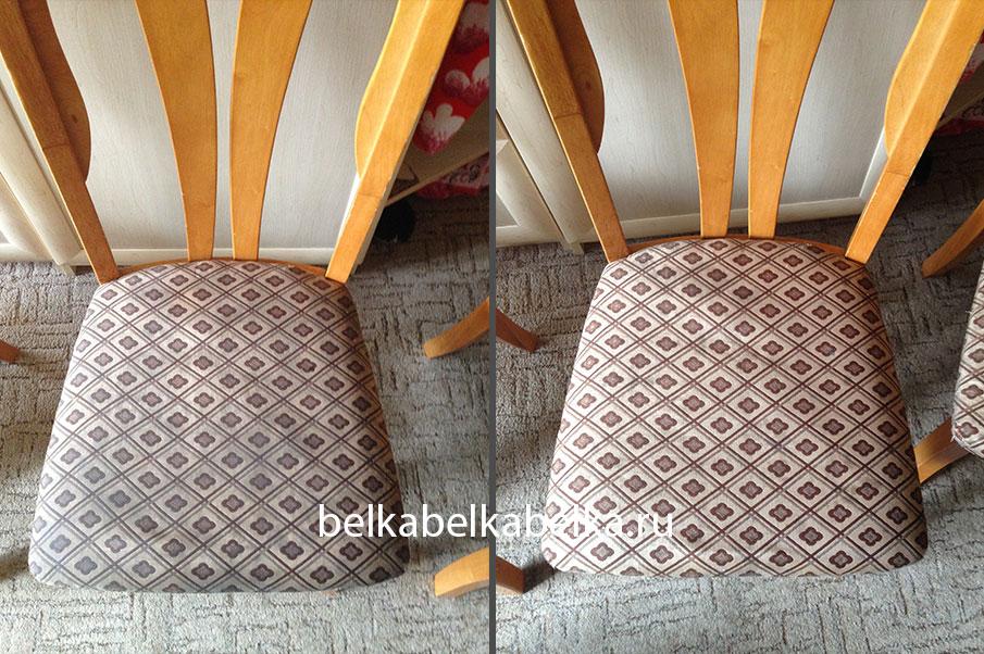 Химчистка стула без спинки, текстиль