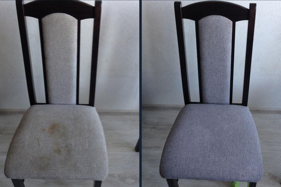 Химчистка стула со спинкой, обивка-текстиль
