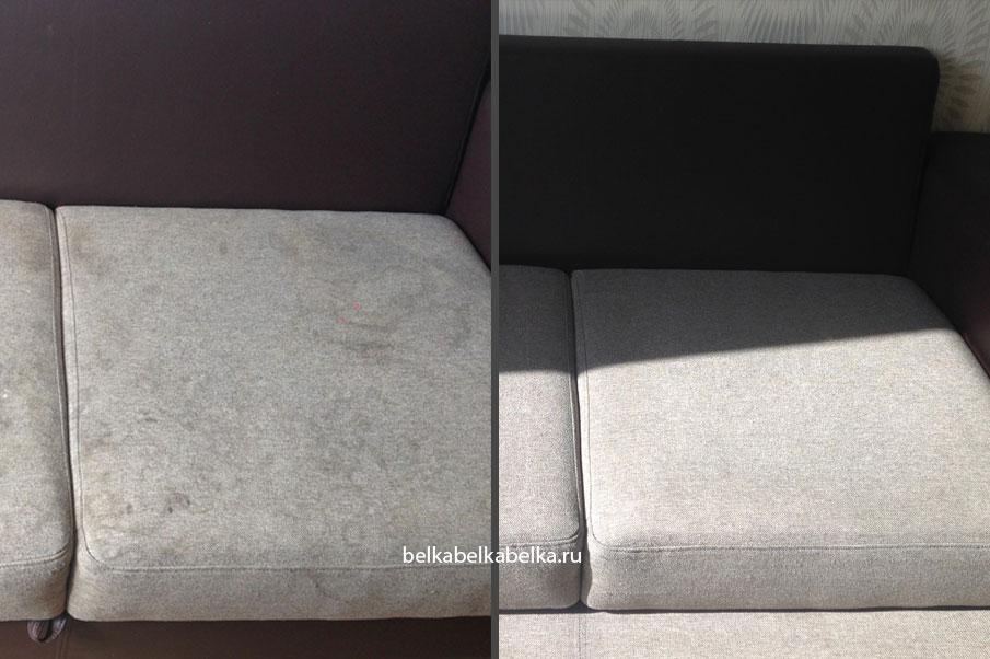 Химчистка светлого текстильного дивана, Стандарт 3d+