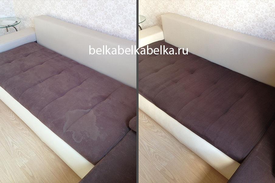 Химчистка текстильного углового дивана, пакет Стандарт 3d+